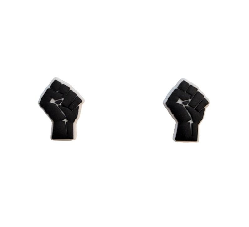 Black Lives Matter Shoe Charms Wristband Shoe Lace Adapter Generic Handmade Set of 2