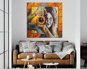 Messa a Fuoco - quadro originale grandi dimensioni dipinto a mano astratti - modern e large painting, hand painted painting, abstract