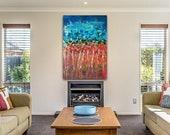 Radici - quadro originale grandi dimensioni dipinto a mano, astratti -  hand painted large abstract modern painting - living art