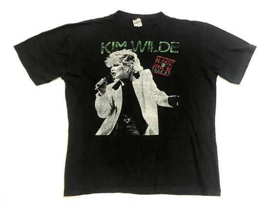 Kim Wilde shirt 1985 Rage to Rock '85 Tour t-shirt