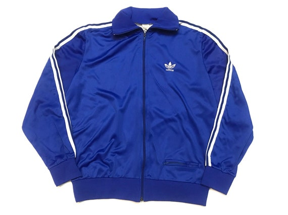 Adidas track jacket blue and white adidas tracksui