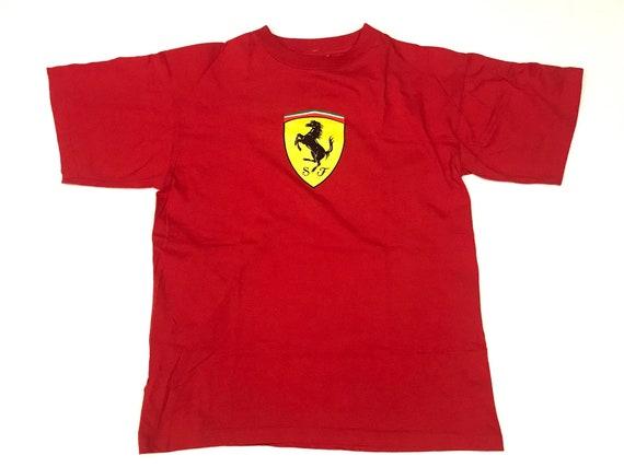 vintage ferrari tshirt ferrari logo black tshirt hiphop tee rap tee vintage sport car tee
