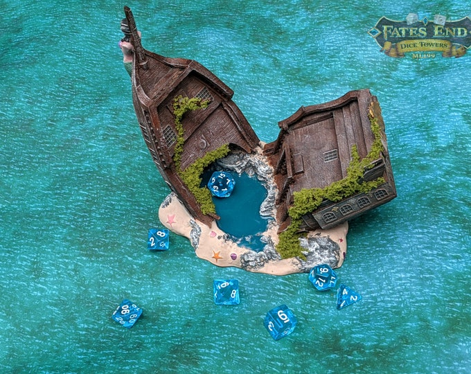 Pirate Ship Dice Tower