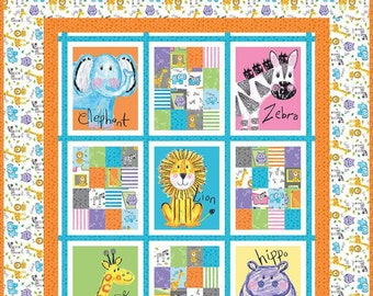 Riley Blake Colorful Friends Quilt Kit by Crayola™, 100% Cotton Fabric