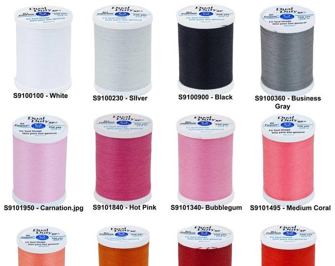 Coats & Clark Dual Duty XP All Purpose Polyester Thread 250yds, Size 50, Tex 30