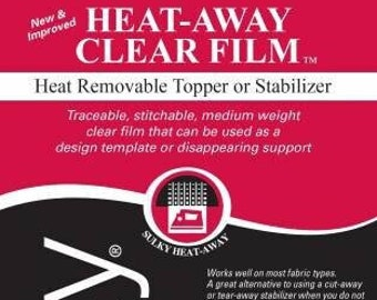 Sulky Heat-Away Clear Film, Heat Removable Topper or Stabilizer, 20in x 1 yd