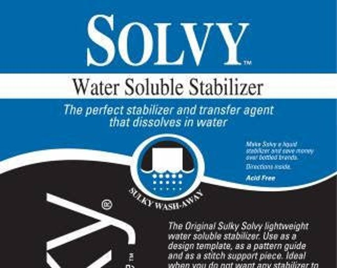Sulky Solvy Lightweight Water Soluble Stabilizer 20in x 1 yd