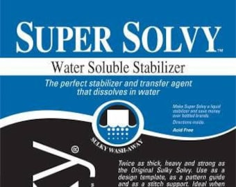 Sulky Super Solvy Medium Weight Water Soluble Stabilizer 20in x 1 yd