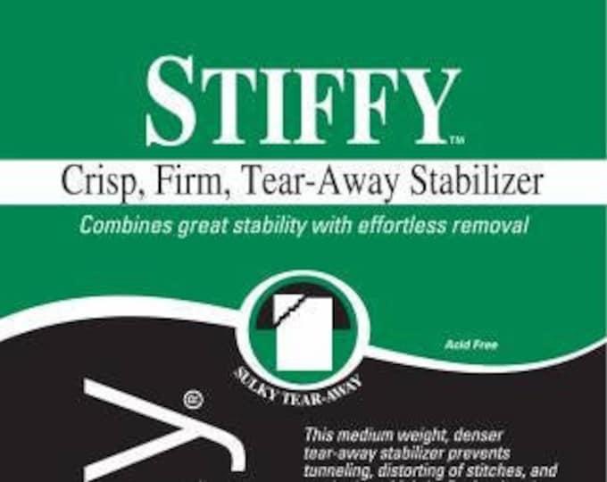 Sulky Stiffy Firm Tear-Easy Medium Weight Tear-Away Stabilizer-White 20in x 1 yd