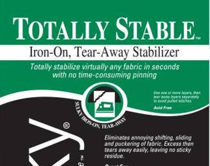 Sulky Totally Stable Iron-On-White, Tear-Away Stabilizer, Lightweight 20in x 1 yd