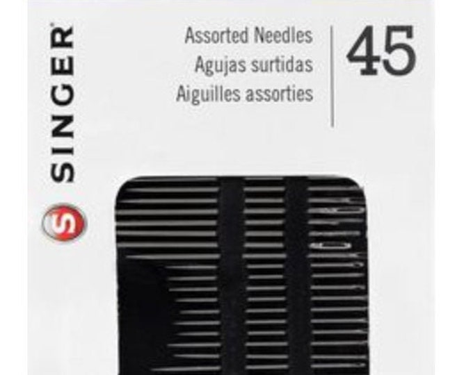 Singer Assorted Hand Sewing Needles- 45pc