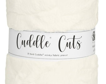 2 Yard Luxe Cuddle® Cut Hide - Natural, Cuddle® Minky Fabric Precut, Shannon Fabrics, Great for Quilting, Sewing & Crafts