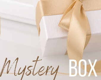 Mystery Box-10 Piece Fat Quarter Mystery Box,  Assorted Prints, 100% Cotton, Great for Quilting, Sewing, & DIY Crafts