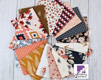 Homebody 16-Piece Fat Quarter Bundle by Maureen Cracknell for Art Gallery Fabrics, 100% Premium Cotton