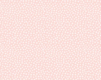 Darcy's Dots - Blushing Bride by David Textiles, 100% Cotton Fabric