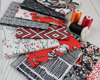 Silkroad Fusion 10-Piece Fat Quarter, Half-Yard Bundle Collection by Art Gallery Fabrics, 100% Premium Cotton