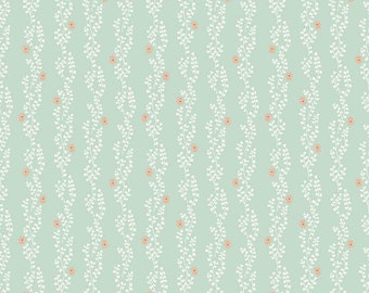 Riley Blake New Dawn Clover Stripe - Mint by Citrus & Mint Designs, 100% Cotton