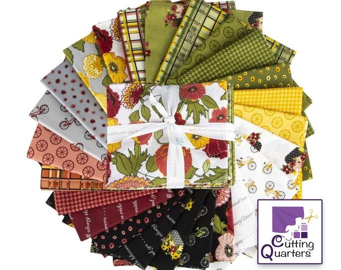 Riley Blake Petals & Pedals 24-Piece Fat Quarter Bundle by Jill Finley of Jillily Studio, 100% Cotton Fabric