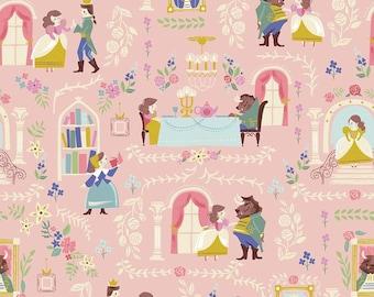 Riley Blake Beauty & the Beast Main - Pink by Jill Howarth,  100% Cotton