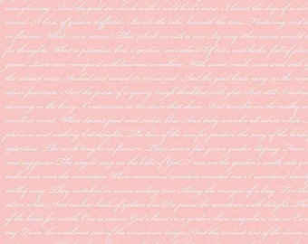 Riley Blake Rose & Violet's Garden Text Shell, Fat Quarters, 1/2 Yard, Yard, 100% Cotton, Great for Quilting, Sewing and DIY Crafts