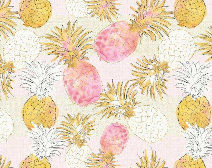 Pineapple Paradise by Anne Tavoletti for David Textiles, 100% Cotton Fabric