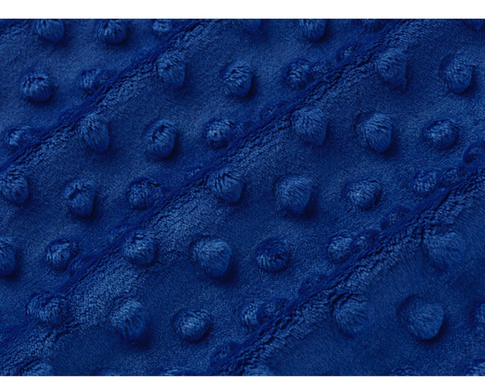 Cuddle® Dimple  Royal Blue, Cuddle® Minky Fabric, Shannon Fabrics, Great for Quilting, Sewing & Crafts