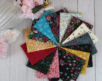 The Flower Society 16 Piece Fat Quarter Bundle by Art Gallery Fabrics, 100% Cotton Fabric, Great for Quilting, Sewing & DIY Crafts