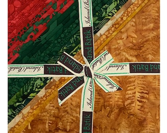 """Holly Holiday 10"""" Square Stack by Kathy Engle for Island Batik, Hand Dyed Batik Cotton, Layer Cakes, Great for Quilting, Sewing & DIY Crafts"""