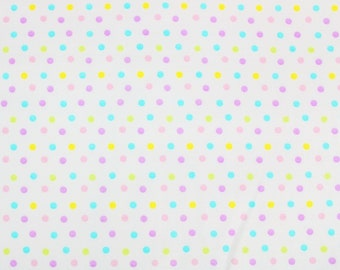SALE - Polka Dots - Multi-Color, Single Fat Quarter, 100% Cotton Fabric, Great for Quilting, Sewing & DIY Crafts