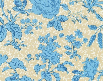 Robert Kaufman Chesterfield-Floral Ivory, Fat Quarters, 1/2 Yard, Yard, 100% Cotton Fabric, Great for Quilting, Sewing and DIY Crafts