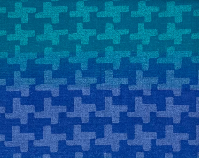 SALE - Ombre, Blue, Single Fat Quarter, 100% Cotton Fabric, Great for Quilting, Sewing & DIY Crafts