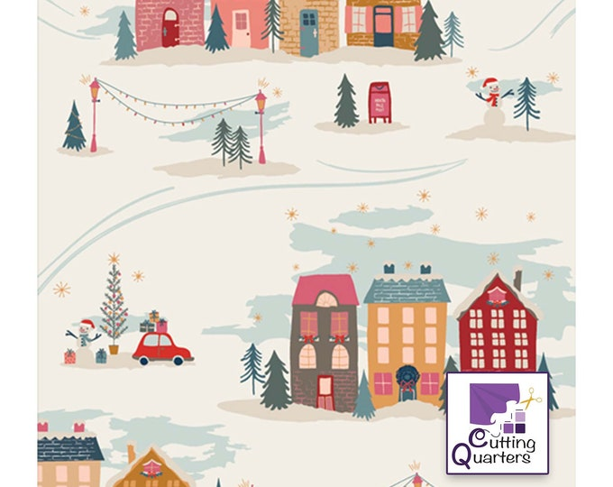 Cozy & Magical - Christmastide Town by Maureen Cracknell for Art Gallery Fabrics, 100% Premium Cotton