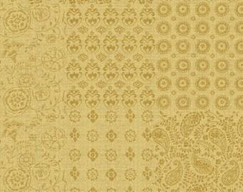 Bohemian Kerchief - Gold by David Textiles, 100% Cotton Fabric