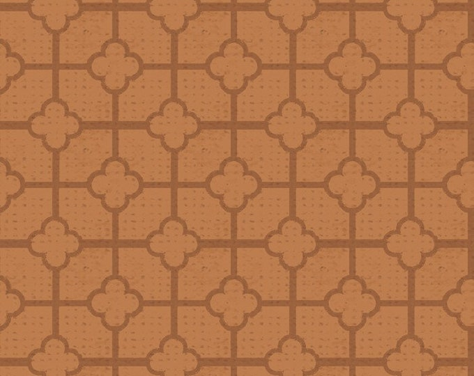 Oak Avenue Mosaic-Rust, Fat Quarter, 1/2 Yard, Yard, 100% Cotton Fabric, Great for Quilting, Sewing & Crafts