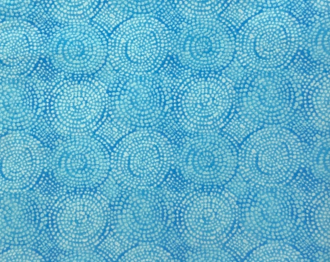 SALE - Swirls, Blue, Single Fat Quarter, 1/2 Yard, Yard, 100% Cotton Fabric, Great for Quilting, Sewing & DIY Crafts