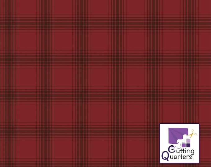 Riley Blake Farmhouse Christmas Plaid Red by Echo Park Paper Co., 100% Cotton, Great for Quilting, Sewing & DIY Crafts
