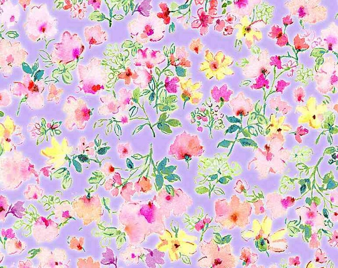 Timeless Treasures Spring Song Floral-Lavender - CD8615, Fat Quarter, 1/2 Yard, Yard, 100% Cotton Fabric