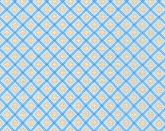 Robert Kaufman Chesterfield-Grid, Lt. Blue, Fat Quarters, 1/2 Yard, Yard, 100% Cotton Fabric, Great for Quilting, Sewing and DIY Crafts
