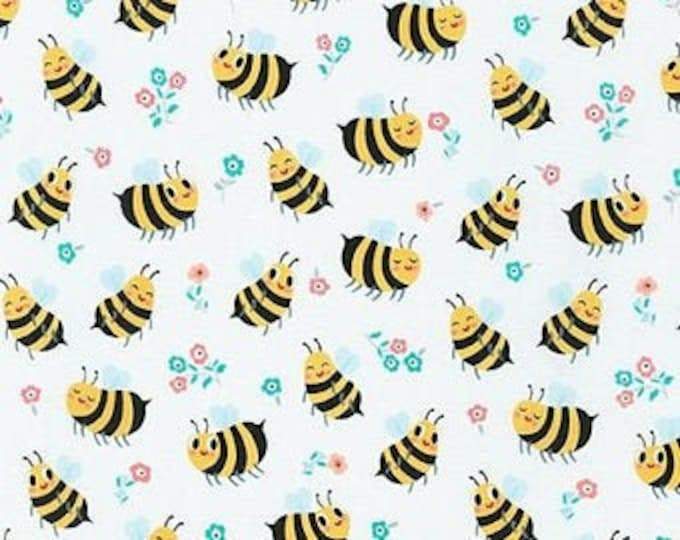Robert Kaufman Bees Knees - Bumble Bee, Fat Quarters, 1/2 Yard, Yard, 100% Cotton Fabric, Great for Quilting, Sewing and DIY Crafts