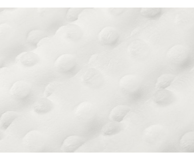 Cuddle® Dimple  White, Cuddle® Minky Fabric, Shannon Fabrics, Great for Quilting, Sewing & Crafts