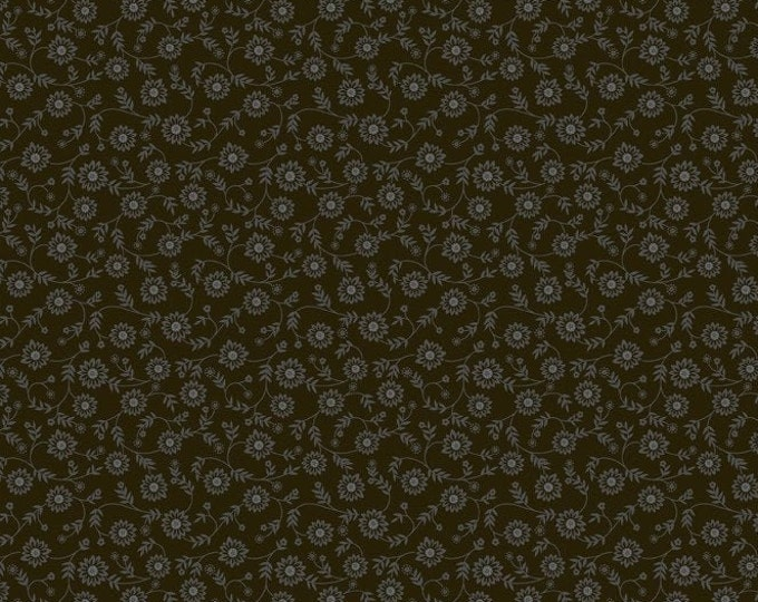 Ellen's Floral-Black, Fat Quarters, 1/2 Yard, Yard, 100% Cotton Fabric,  Great for Quilting, Sewing & DIY Crafts