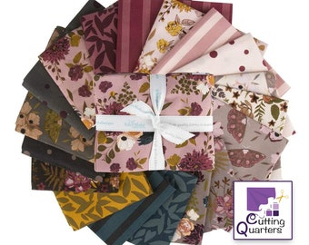 Riley Blake Sonnet Dusk 18-Piece Fat Quarter Bundle by Corri Sheff, 100% Cotton Fabric