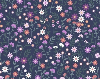 Garden Bloom-Petite Bloom, Fat Quarters, 1/2 Yard, Yard, 100% Cotton Fabric, Great for Quilting, Sewing & DIY Crafts
