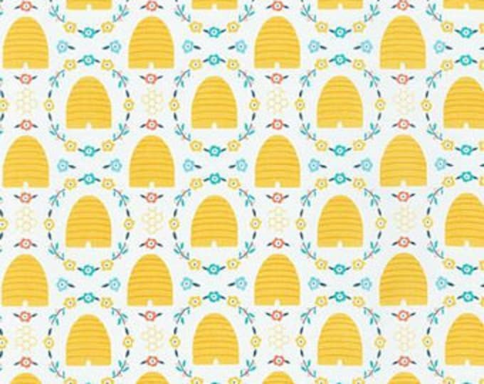 Robert Kaufman Bees Knees - Spring Beehives, Fat Quarters, 1/2 Yard, Yard, 100% Cotton, Great for Quilting, Sewing and DIY Crafts