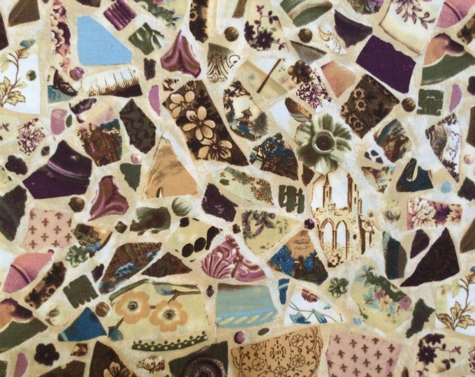 SALE - Life's Journey, Beige, Brown, Multi, Single Fat Quarter, 100% Cotton Fabric, Great for Quilting, Sewing & DIY Crafts