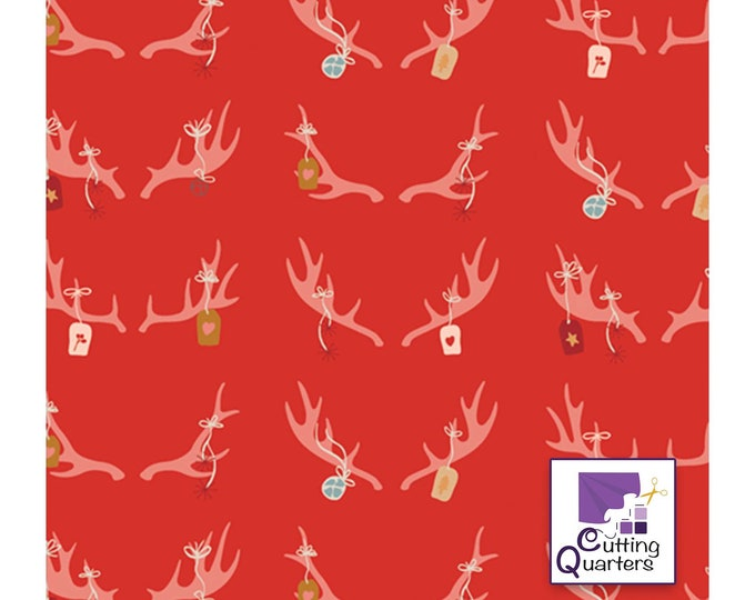 Cozy & Magical - Cheerful Antlers by Maureen Cracknell for Art Gallery Fabrics, 100% Premium Cotton