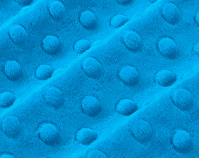 Cuddle® Dimple Azure, Cuddle® Minky Fabric, Shannon Fabrics, Great for Quilting, Sewing & Crafts