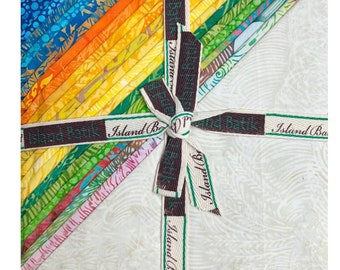 """Summer Fields 10"""" Square Stack by Kathy Engle for Island Batik, Hand Dyed Batik Cotton, Layer Cakes, Great for Quilting, Sewing & DIY Crafts"""