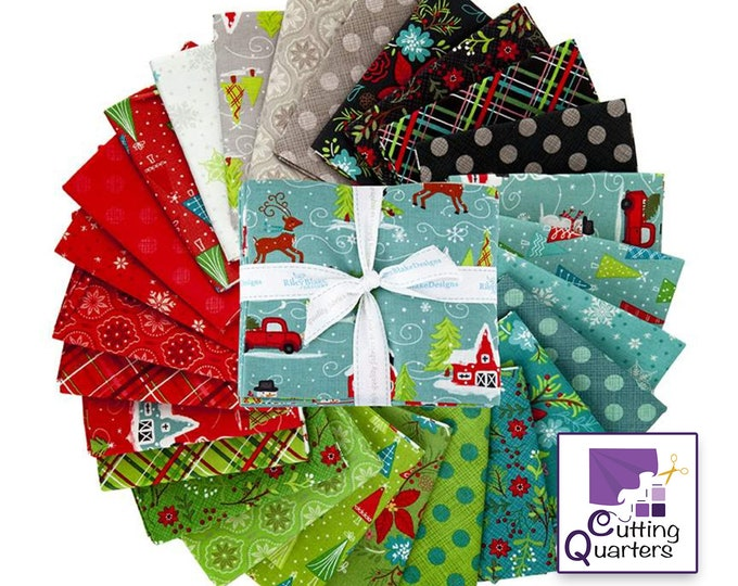 Riley Blake Snowed In 26-Piece Fat Quarter Bundle, 100% Cotton Fabric, 6.5 Yards, Great for Quilting, Sewing & DIY Crafts