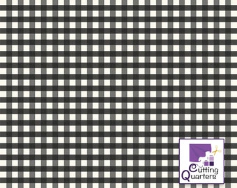 Riley Blake Farmhouse Christmas Gingham Black by Echo Park Paper Co., 100% Cotton, Great for Quilting, Sewing & DIY Crafts